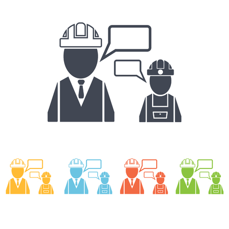 albañil: icono de los constructores de diálogo