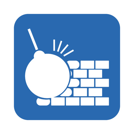 dismantling: The dismantling of the wall icon