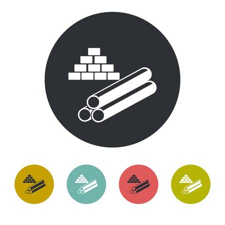 cast iron: Building materials icon Illustration