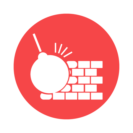 disrupt: The dismantling of the wall icon