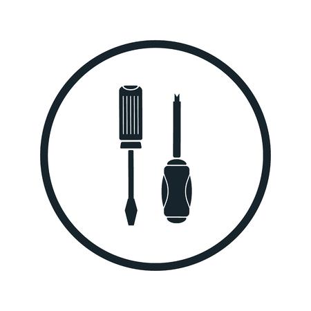 screwdriver: Screwdriver icon Illustration