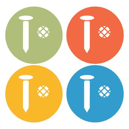 fasteners: Nail icon Illustration