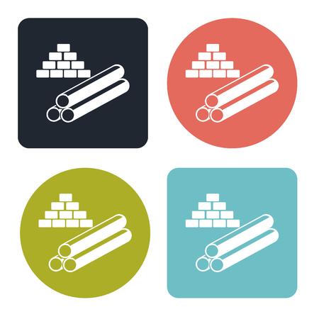 materials: Building materials icon Illustration