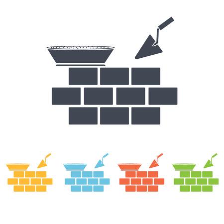 house under construction: Brickwork icon
