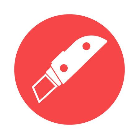 penknife: Stationery knife icon Illustration