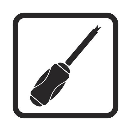 adjusting: Screwdriver icon Illustration