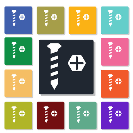 fasteners: Screw icon