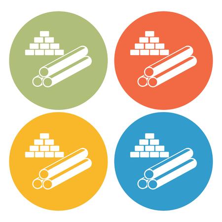 Building materials icon Illustration
