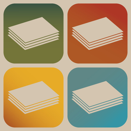 plywood: Building materials icon Illustration