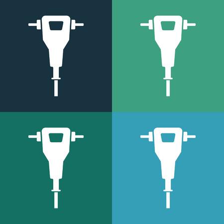 Pre�lufthammer: Presslufthammer-Symbol Illustration