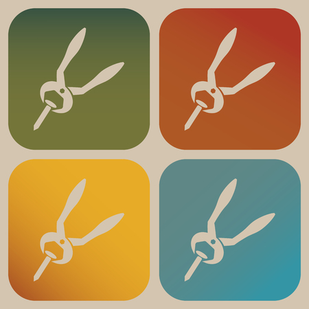 clamps: Pliers icon Illustration