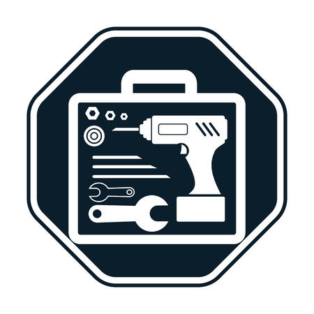 tools icon: Suitcase with tools icon