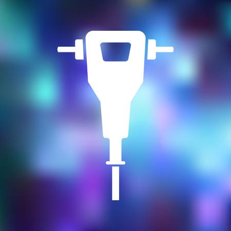 presslufthammer: Presslufthammer-Symbol Illustration
