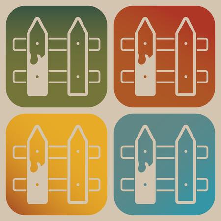 Icono de la cerca Ilustración de vector