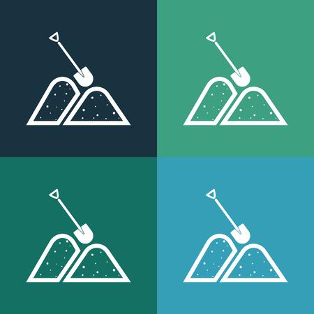 the icon: Sand icon Illustration
