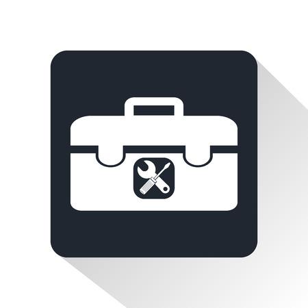 Bőrönd eszközök ikonra Illusztráció