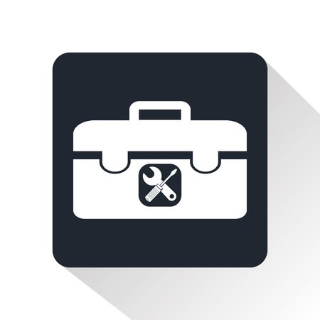 Suitcase with tools icon Vector Illustration
