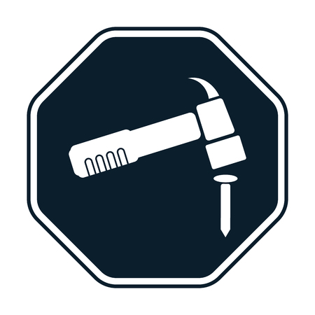 steel workers: Hammer icon