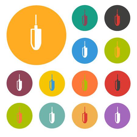 the icon: Plummet icon Illustration