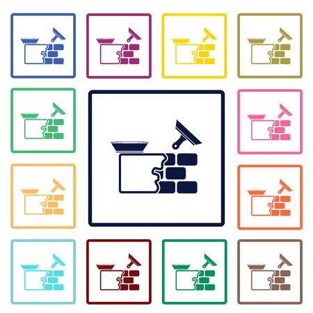 Gepleisterde muur pictogram