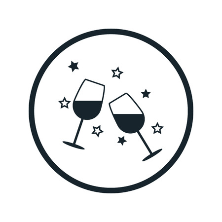 shots alcohol: Wine in the glass icon Illustration