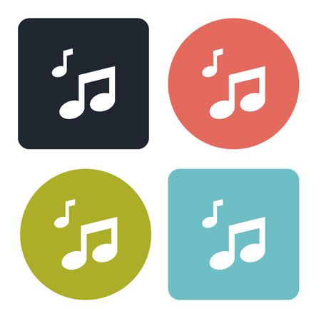 crotchets: Notes icon Illustration