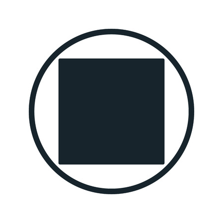 stop button: Stop button icon Illustration