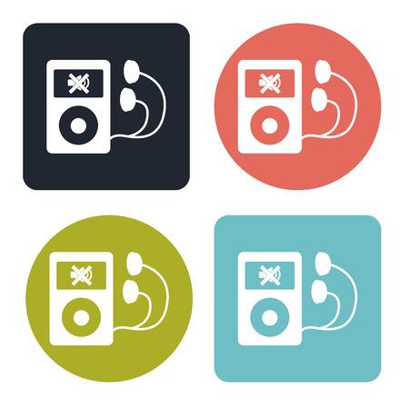 music player: Music player icon Illustration