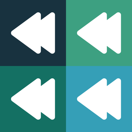 users video: Rewind button icon