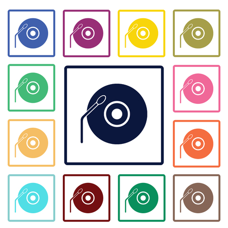 antiquated: Vinyl record icon