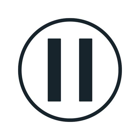 icono de botón de pausa