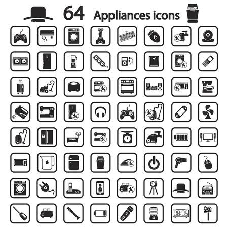 appliances: appliances icons set