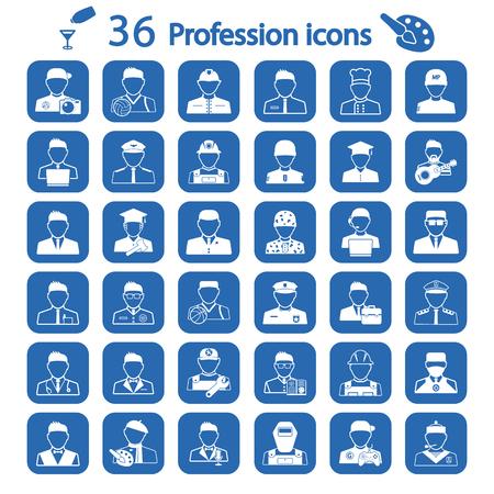 prostitute: profession icon set