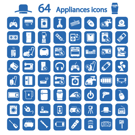 appliances icons set