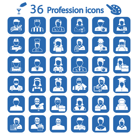 sales manager: profession icon set