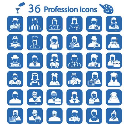 the profession: profession icon set