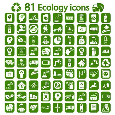 recycling symbols: Ecology icon set