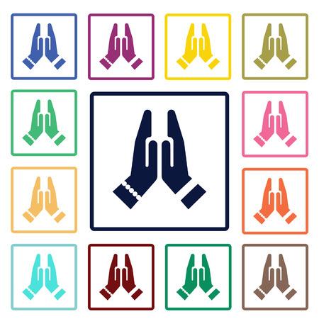 namaste: namaste icon Illustration