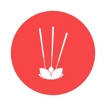incienso: icono de incienso Vectores