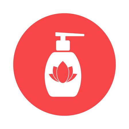 body massage: massage oil icon Illustration