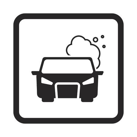 air pollution cartoon: pollute the air icon