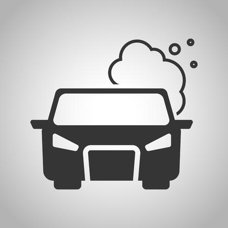 the air: pollute the air icon