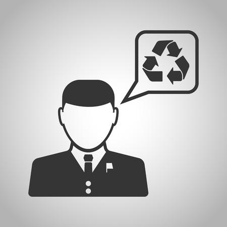 senators: Speech about the ecology icon Illustration