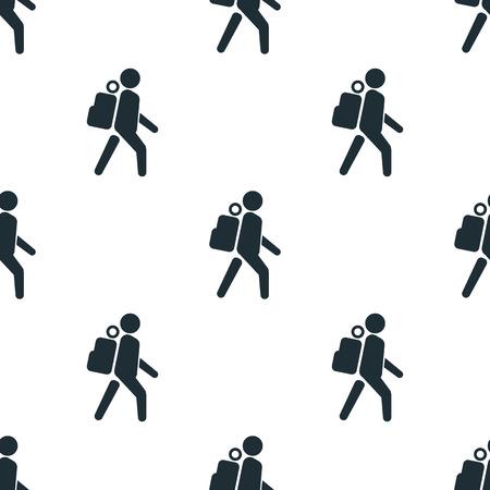 tourist: tourist icon Illustration