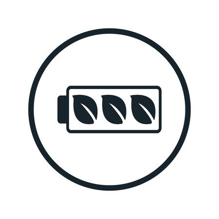 eco batterij-icoon