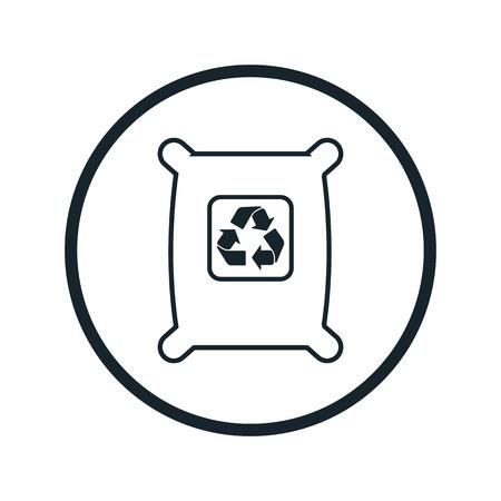 bag icon: garbage bag icon Illustration