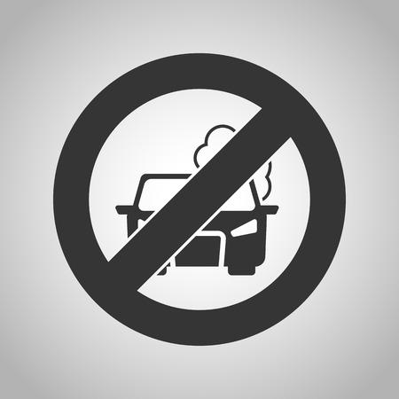 pollute: prohibitio pollute the air icon