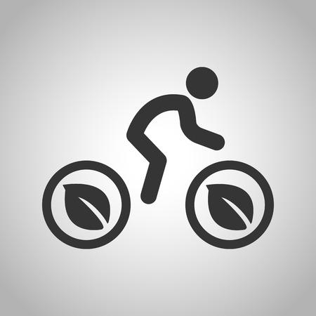 defending: eco cyclist icon Illustration