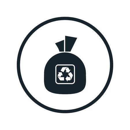 bag of soil: garbage bag icon Illustration