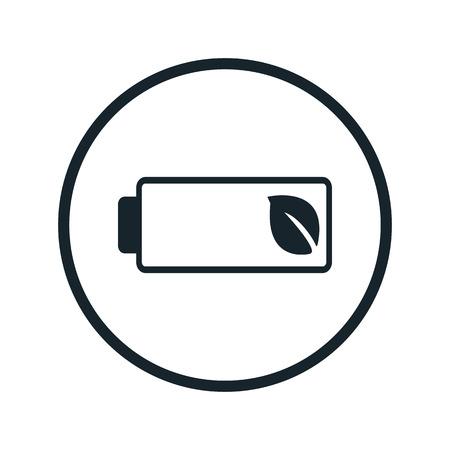 eco batterij-icoon Vector Illustratie